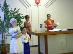 Udelenie česteného občianstva obce Sološnica MUDr. Ladislavovi Masákovi CSc.